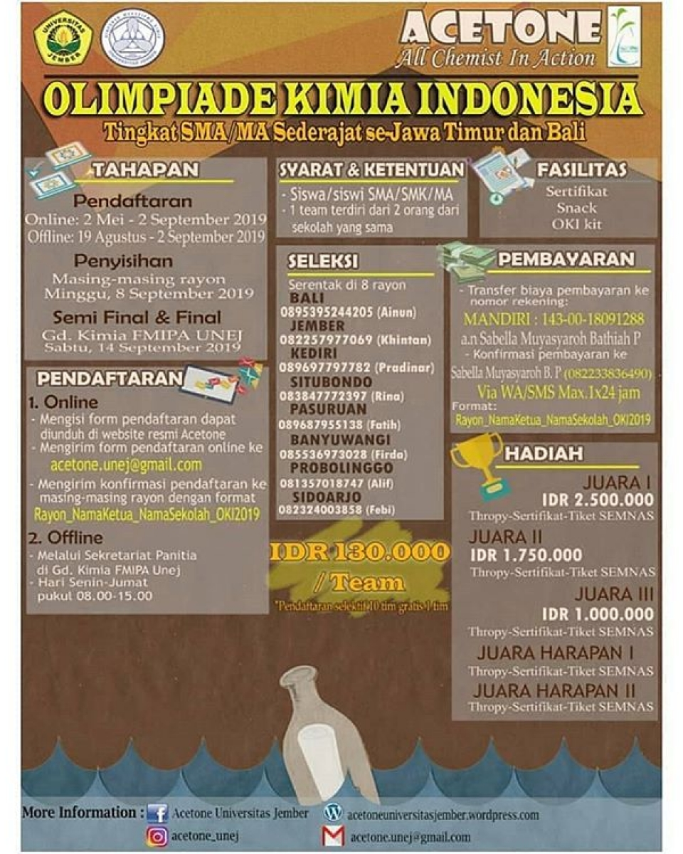 Olimpiade Kimia Indonesia 2019